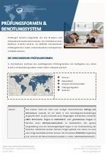 Prüfungsformen und Benotungssystem