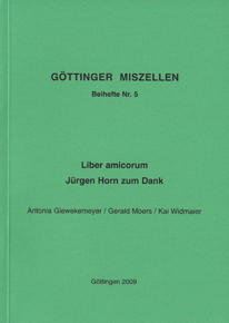 Göttinger Miszellen - Supplements 5