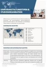 Lehrveranstaltungstypen und Studienorganisation