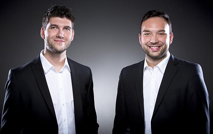 Porträtaufnahme von Philipp Ballhausen und Markus Werner