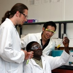 Applied Geology Students in the lab
