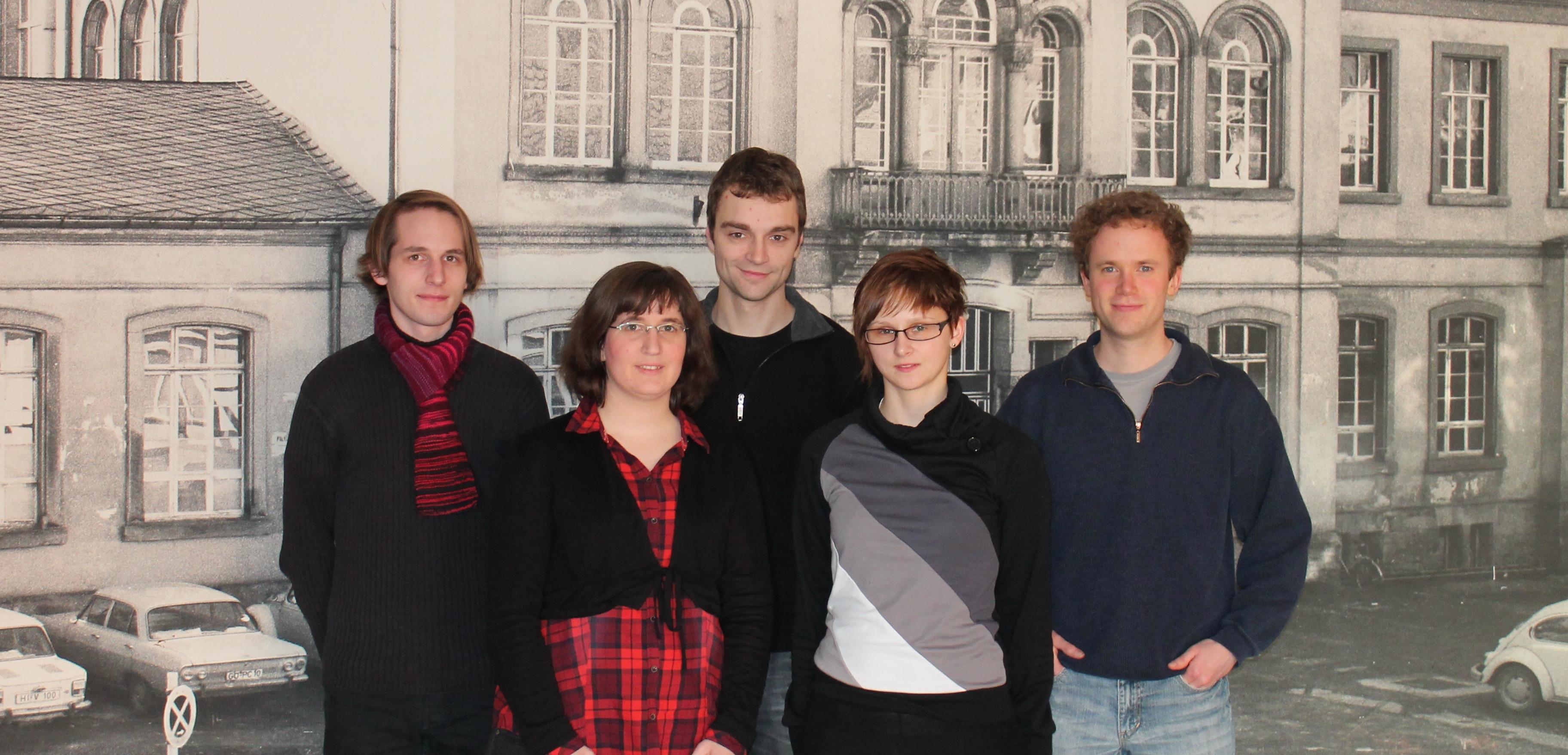 Nico Graw, Cornelia Panse, Dennis Hübner, Sabrina Freye, David Engelhard (von links)