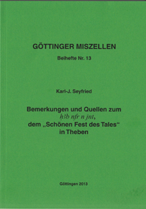 Göttinger Miszellen - Supplements 13