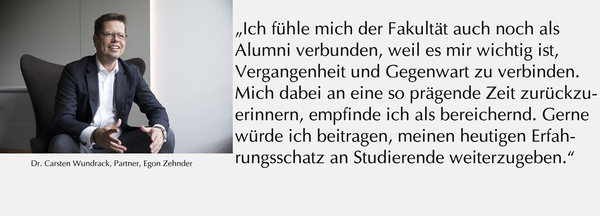 Zitat Alumnus Carsten Wundrack