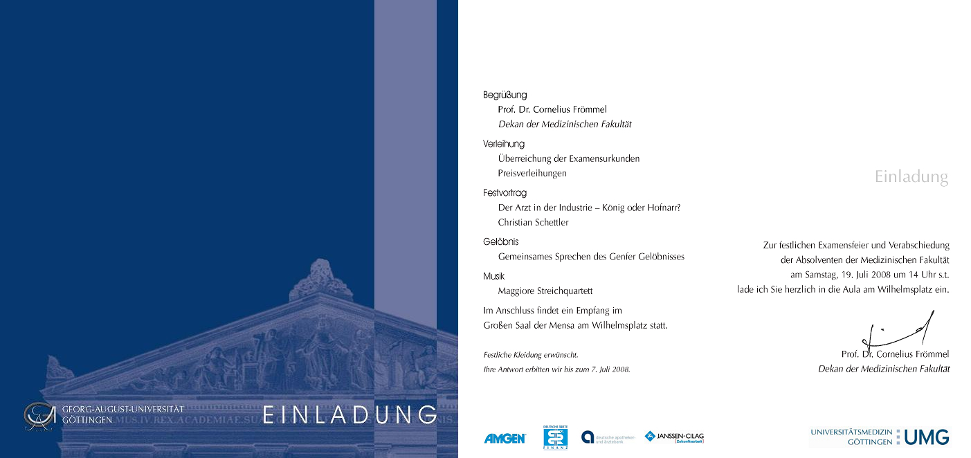 Invitation cards - Georg-August-Universität Göttingen