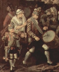 "Detail from Hogarth, ""March of the Guards to Finchley"""