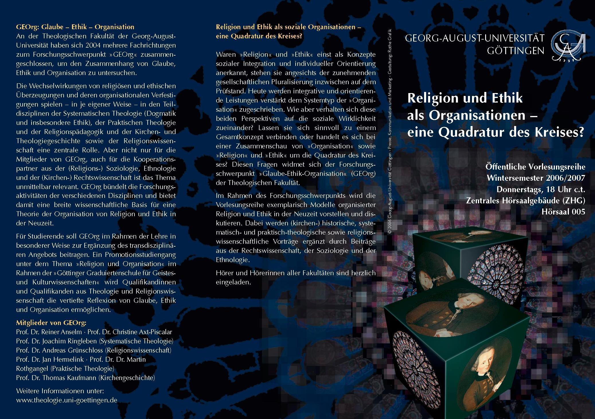 Flyers and Posters - Georg-August-Universität Göttingen