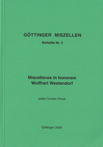 Göttinger Miszellen - Supplements 3