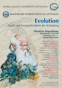 Plakat Winter 2007/2008 Ringvorlesung EVOLUTION
