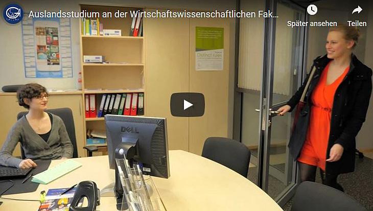 Informationsvideo zu den Austauschprogrammen der Fakultät