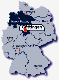 Travelling To Göttingen GeorgAugustUniversität Göttingen - Germany map gottingen