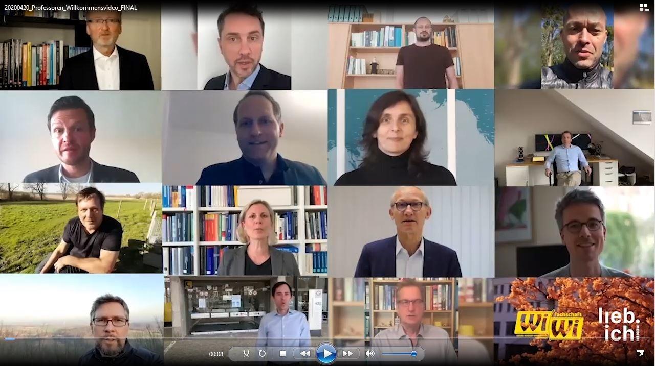 Begrüßungsvideo für Erstsemester an der WiWi-Fakultät SoSe 2020