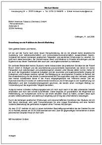 Anschreiben Georg August Universität Göttingen