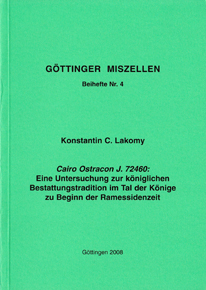 Göttinger Miszellen - Supplements 4