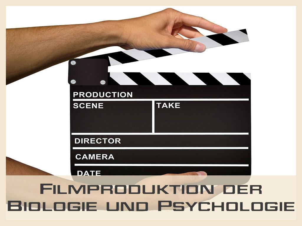 Filmproduktion an der Fakultät für Biologie und Psychologie