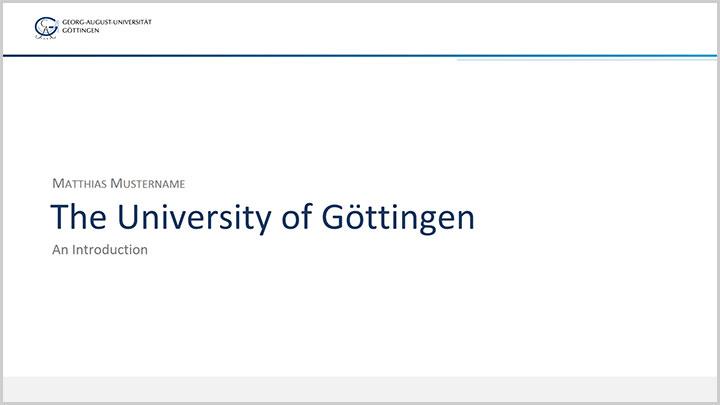 Folienpräsentation (Powerpoint) - Georg-August-Universität Göttingen