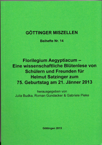 Göttinger Miszellen - Supplements 14