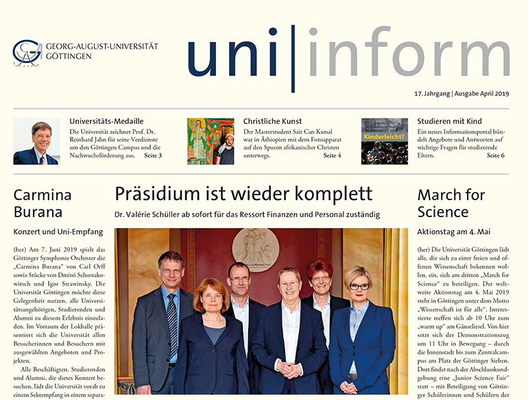 Titel Uniinform April 2019