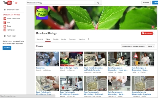 Broadcast Biology Youtube