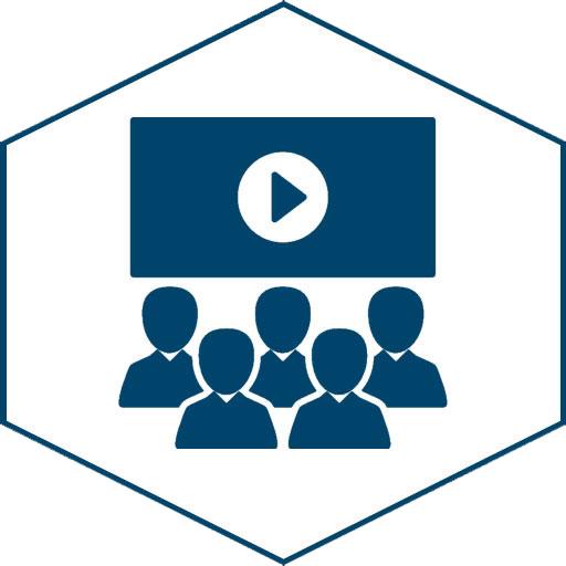 Lernen mit Videos (Icon weiß)
