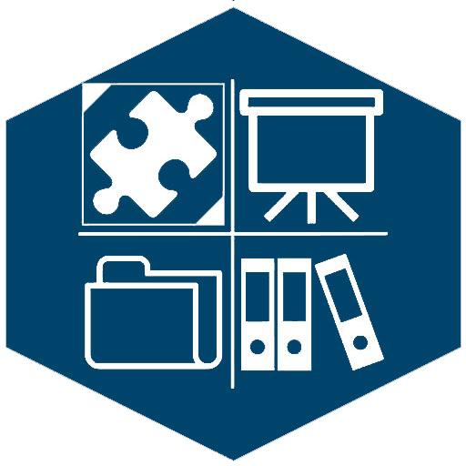 Content-/Lernmanagement Systeme (Icon blau)