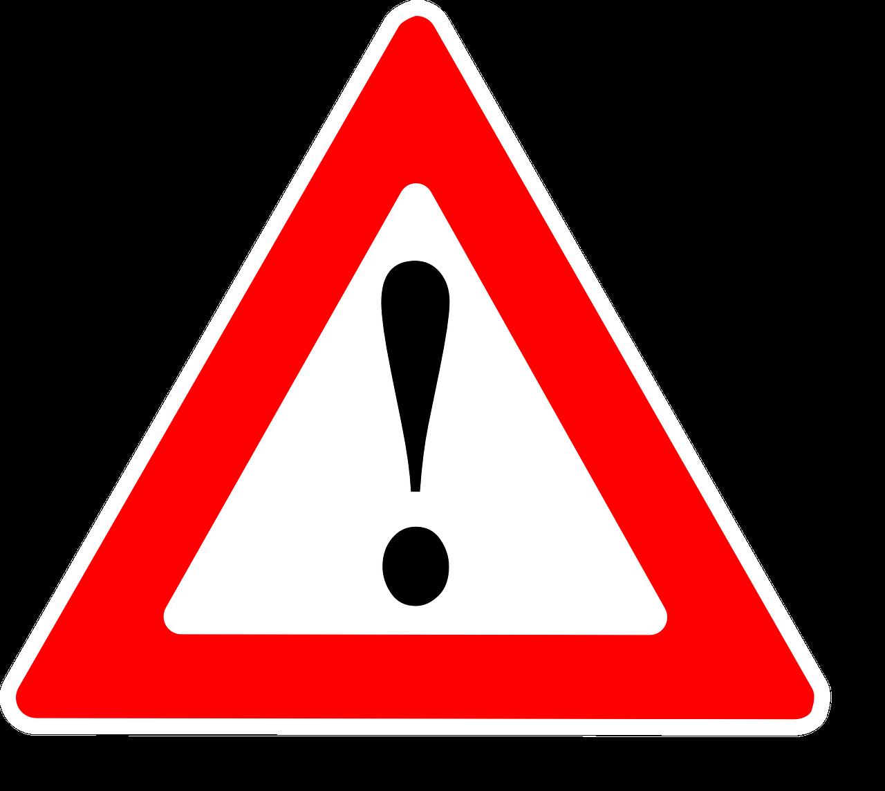 Warnsymbol für Aktuelles