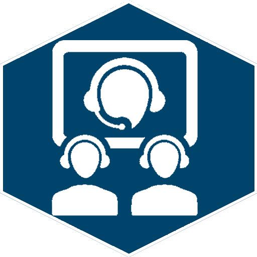 Web-/Videokonferenzen (Icon blau)
