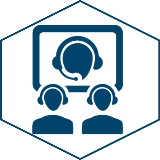 Web-/Videokonferenzen (Icon weiß)